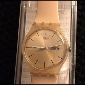 "Brand new ""Rose Rebel"" Swatch watch"